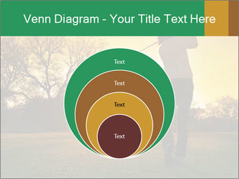 Man Playing Golf During Sunset PowerPoint Templates - Slide 34