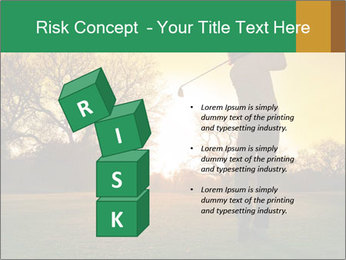 Man Playing Golf During Sunset PowerPoint Templates - Slide 81