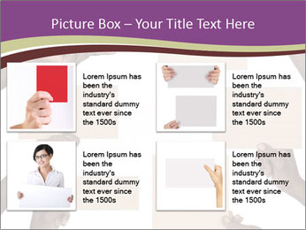 People Hold Blank Paper Boards PowerPoint Templates - Slide 14