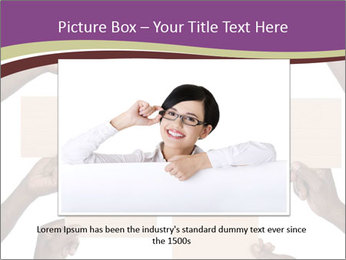 People Hold Blank Paper Boards PowerPoint Templates - Slide 15