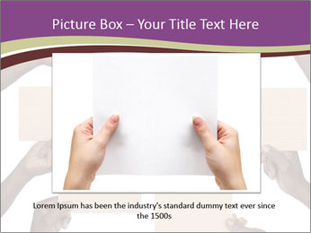 People Hold Blank Paper Boards PowerPoint Templates - Slide 16