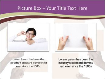 People Hold Blank Paper Boards PowerPoint Templates - Slide 18