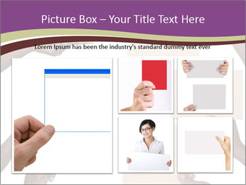 People Hold Blank Paper Boards PowerPoint Templates - Slide 19