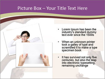 People Hold Blank Paper Boards PowerPoint Templates - Slide 20
