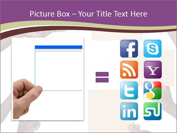 People Hold Blank Paper Boards PowerPoint Templates - Slide 21