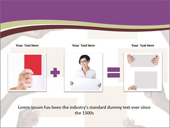 People Hold Blank Paper Boards PowerPoint Templates - Slide 22