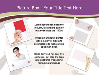 People Hold Blank Paper Boards PowerPoint Templates - Slide 24