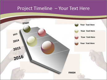 People Hold Blank Paper Boards PowerPoint Templates - Slide 26
