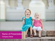 Girl With Baby Sister PowerPoint Templates