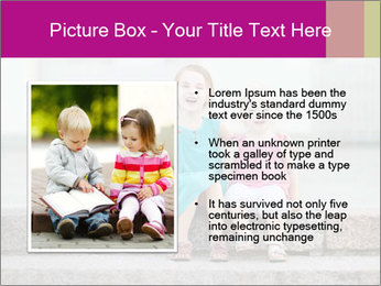 Girl With Baby Sister PowerPoint Templates - Slide 13