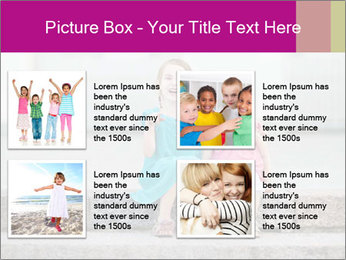 Girl With Baby Sister PowerPoint Template - Slide 14