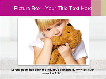 Girl With Baby Sister PowerPoint Template - Slide 15