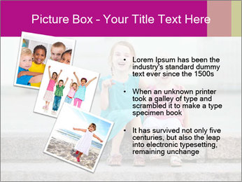Girl With Baby Sister PowerPoint Template - Slide 17