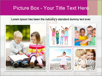 Girl With Baby Sister PowerPoint Template - Slide 19