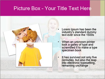 Girl With Baby Sister PowerPoint Template - Slide 20