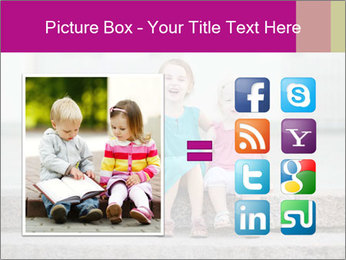Girl With Baby Sister PowerPoint Template - Slide 21