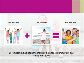 Girl With Baby Sister PowerPoint Template - Slide 22