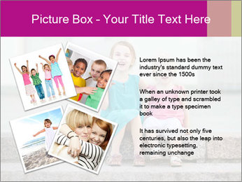Girl With Baby Sister PowerPoint Template - Slide 23