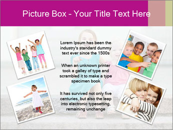 Girl With Baby Sister PowerPoint Template - Slide 24