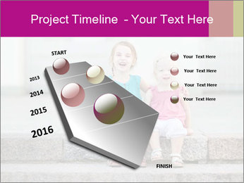 Girl With Baby Sister PowerPoint Templates - Slide 26