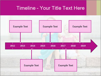 Girl With Baby Sister PowerPoint Template - Slide 28