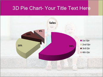 Girl With Baby Sister PowerPoint Template - Slide 35