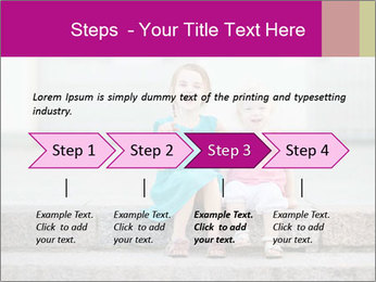 Girl With Baby Sister PowerPoint Template - Slide 4