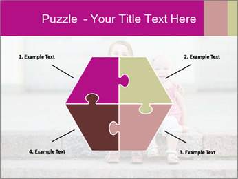 Girl With Baby Sister PowerPoint Template - Slide 40