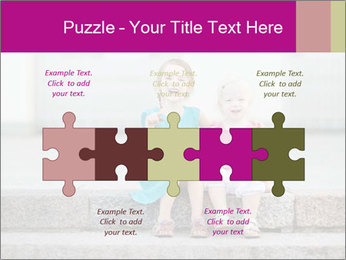 Girl With Baby Sister PowerPoint Template - Slide 41