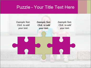 Girl With Baby Sister PowerPoint Template - Slide 42
