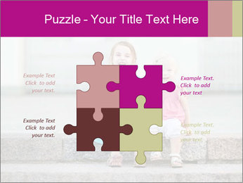 Girl With Baby Sister PowerPoint Template - Slide 43
