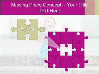 Girl With Baby Sister PowerPoint Template - Slide 45