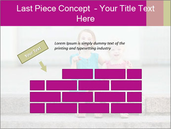 Girl With Baby Sister PowerPoint Template - Slide 46
