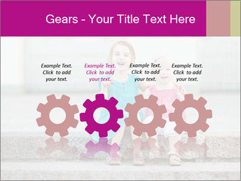 Girl With Baby Sister PowerPoint Template - Slide 48