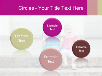 Girl With Baby Sister PowerPoint Template - Slide 77