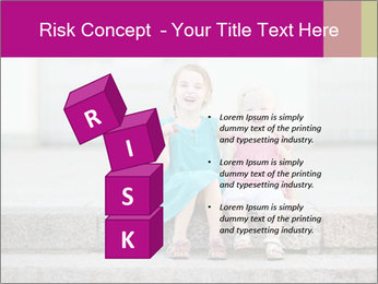 Girl With Baby Sister PowerPoint Template - Slide 81