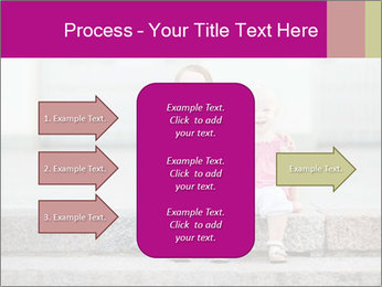 Girl With Baby Sister PowerPoint Template - Slide 85