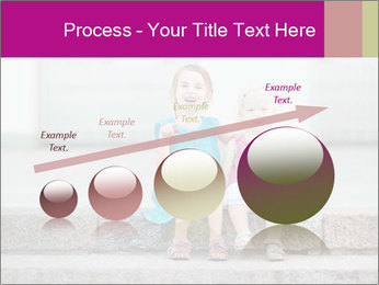 Girl With Baby Sister PowerPoint Template - Slide 87