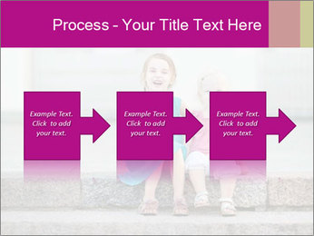 Girl With Baby Sister PowerPoint Template - Slide 88