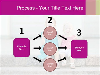 Girl With Baby Sister PowerPoint Template - Slide 92