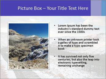 Dovestone Reservoir at Winter PowerPoint Templates - Slide 13