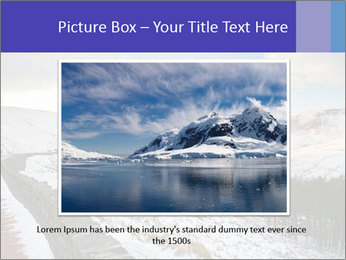 Dovestone Reservoir at Winter PowerPoint Templates - Slide 15