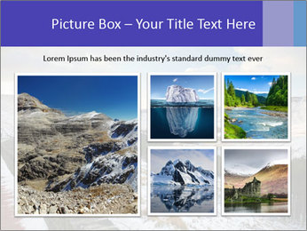 Dovestone Reservoir at Winter PowerPoint Templates - Slide 19