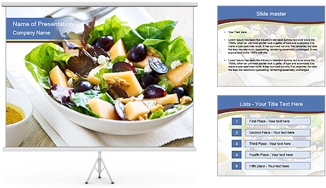 Grape and Cantaloupe PowerPoint Template