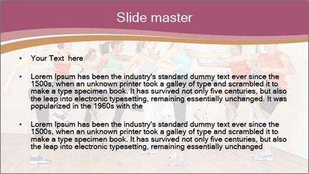 People in Dance Studio PowerPoint Template - Slide 2