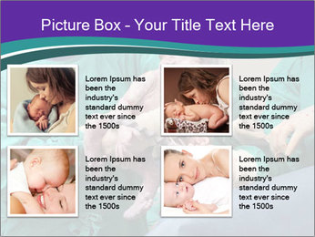 A doctor holds a new born baby PowerPoint Template - Slide 14
