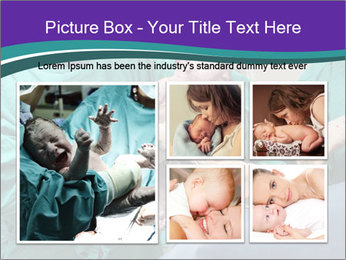 A doctor holds a new born baby PowerPoint Template - Slide 19