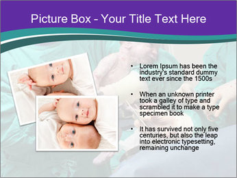 A doctor holds a new born baby PowerPoint Template - Slide 20