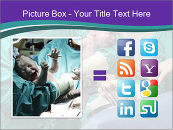 A doctor holds a new born baby PowerPoint Template - Slide 21