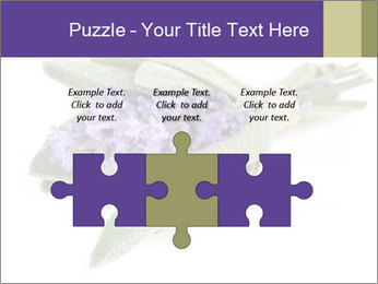 Lavender and sage PowerPoint Template - Slide 42
